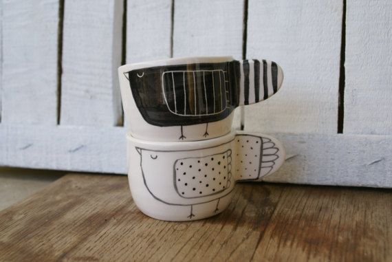 Coppia tazzine da caffè in ceramica di PautaPot su Etsy