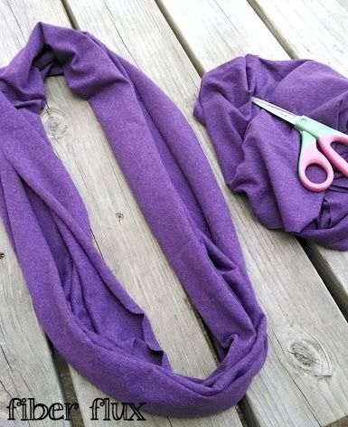 Fiber Flux...Adventures in Stitching: How To Make The Easiest Cowl Ever! And she's not kidding - this is so clever, so EASY, and so fun. And it looks fantastic! A great fashion craft DIY for anyone!