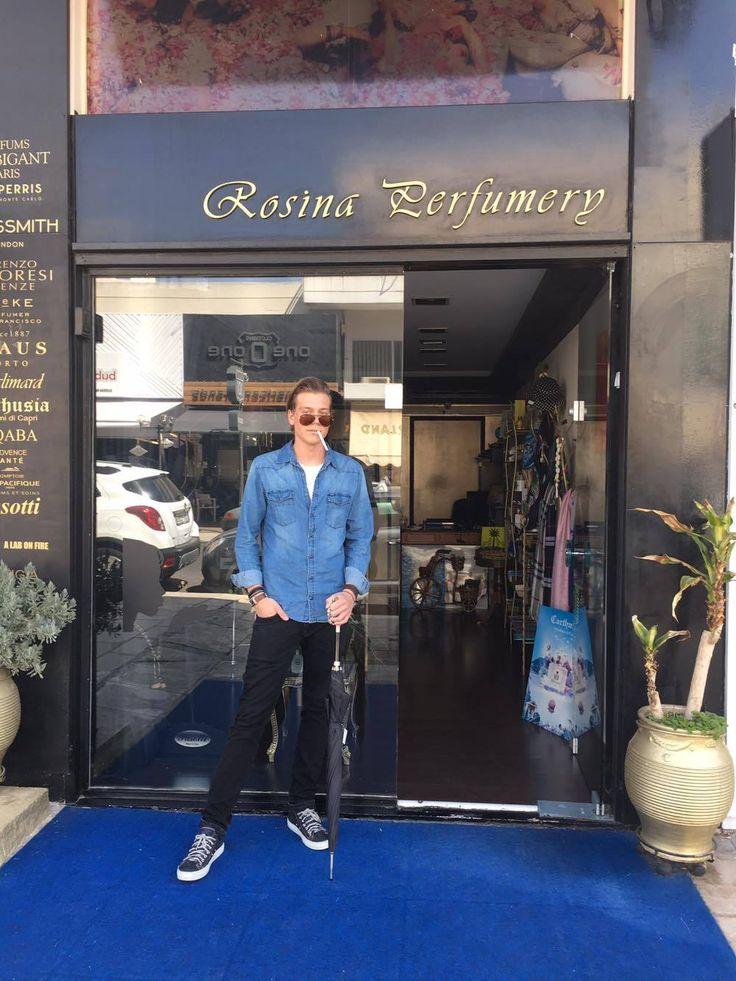 #famous #swiss #model #spotted at #rosinaperfumery #pasotti #ombrella #mykonos #athens #glyfada #sanktmoritzswitzerland