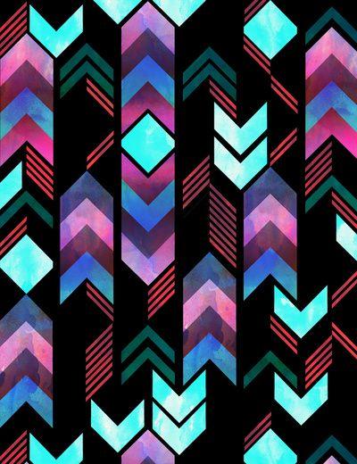 Montauk Native Art Print by schatzibrown #schatzibrown #pattern #tribal #native #chevron
