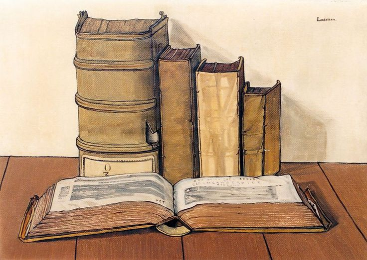 Lodeizen J. | Johannes 'Jo' Lodeizen, Boeken, olieverf op doek 40,2 x 56,5 cm, gesigneerd r.b. en gedateerd 1927