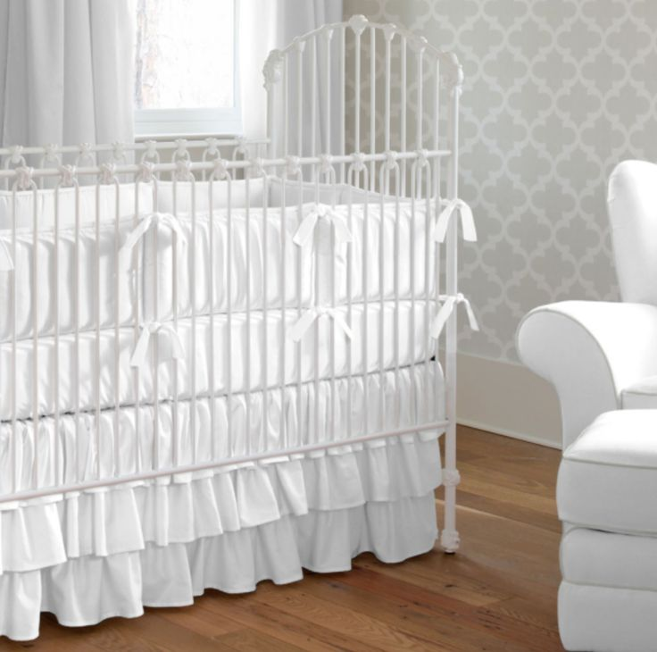 @CarouselDesigns White Crib Bedding - are you scared of white in the nursery? There's always bleach!