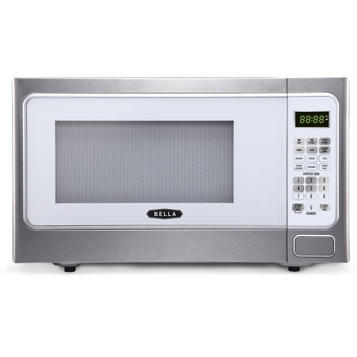 Bella 1.1 Cu. Ft. 1000 Watt Microwave Oven - Silver