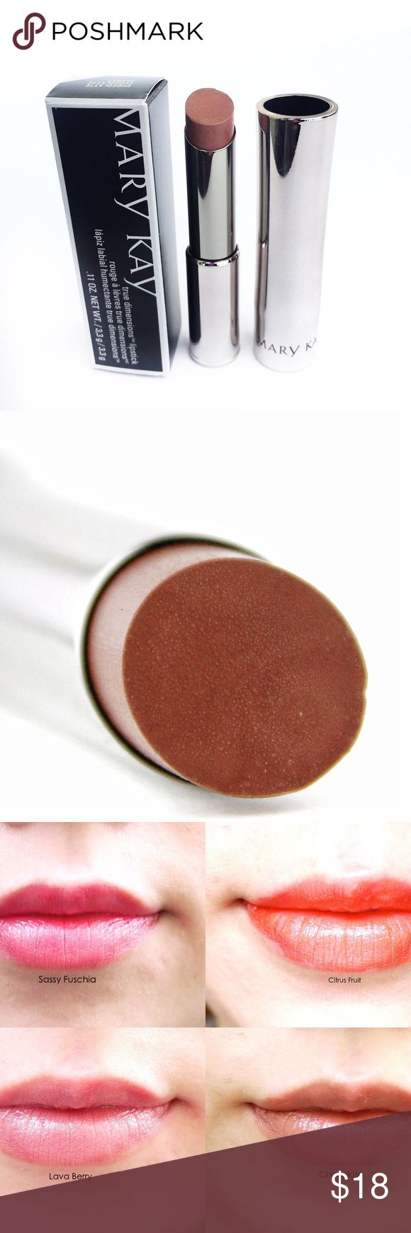 Mary kay true dimensions lipstick chocolate intensely moisturizing exquisitely smoothing it s like