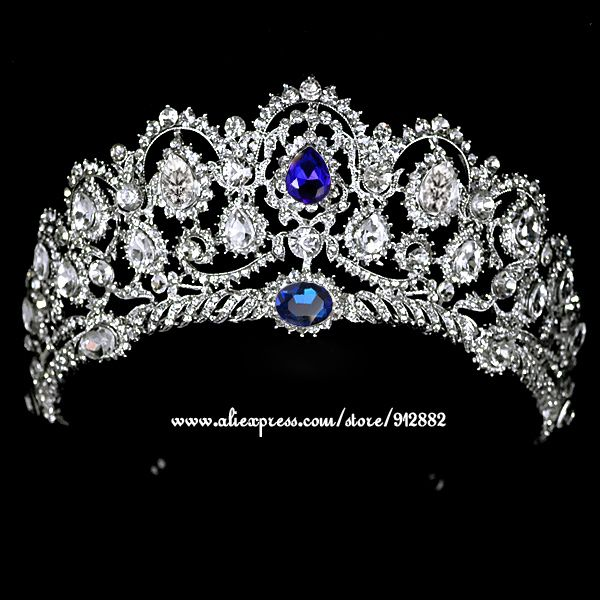 Cheap 18 k oro bianco placcato blu strass quinceanera metallo royal neve belle vintage di lusso diademi e corone festa di nozze, Compro Qualità Monili dei capelli direttamente da fornitori della Cina: 2015 Classic Tiaras Free Shipping Multi-layer Simulated Pearl Butterfly Tiara Crown Hair Accessory For Wedding Prom Part