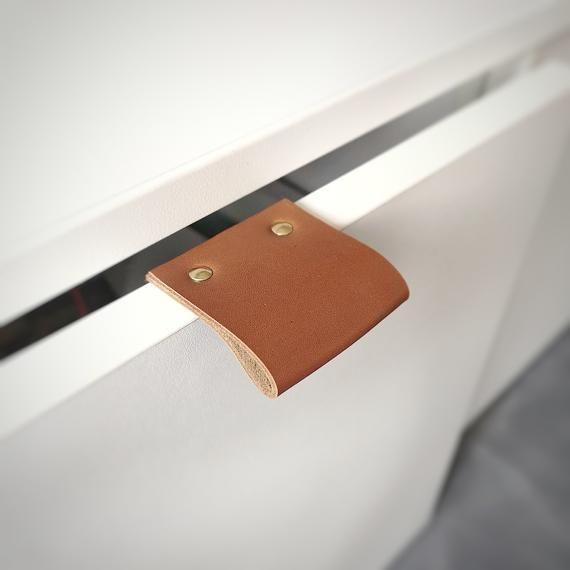 Leather Drawer Pulls Leather Pulls Dresser Handles Leather Edge Pulls Leather Drawer Pulls Leather Pulls