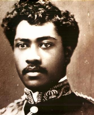 "The natives of Hawaii were Black people whose ancestral roots extend back to Africa. Prince Leleiohoku (1855-1877), Crown Prince of the Hawaiian Islands. Had he not died of rheumatic fever at age 23, his abundant talent promised that his would have been a brilliant musical career. His excellent songs are still being sung, among them "" Adios Ke Aloha"", and ""Moani Ke Ala"". The melodic line from ""Kaua I Ka Huahua`i"" was later adopted for the modern ""Hawaiian War Chant."""