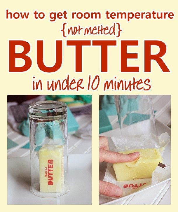 How to get ROOM TEMPERATURE soft butter - NOT melted - in under ten minutes - awesome baking hack when you are short on time