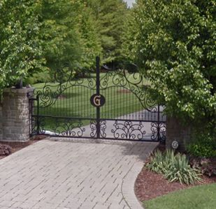 Custom Built Wrought Iron Steel Entrance Gates, Driveway Gates, Garden Gates, Walkway Gates, Pool Gates for sale - Babin Ironworks. Shop with Babin Ironworks and purchase your gate from the masters.