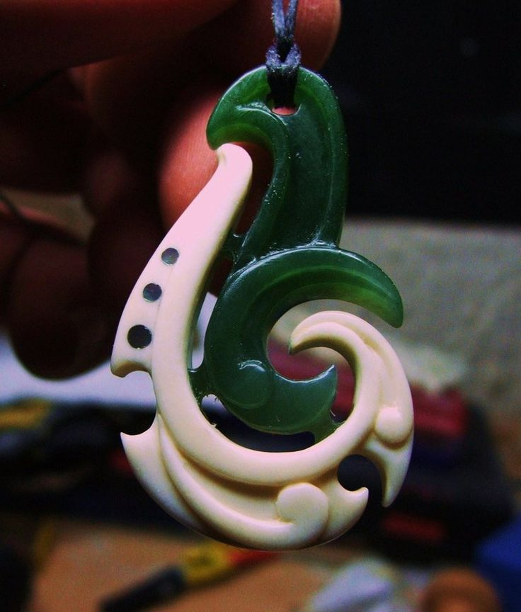 jade bone koru pendant by ~savagewerx on deviantART