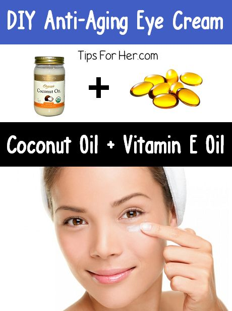DIY Anti Aging Eye Cream - Effective, homemade, anti-aging eye cream using only 2 ingredients! Perfect to help with dry and tired looking skin.