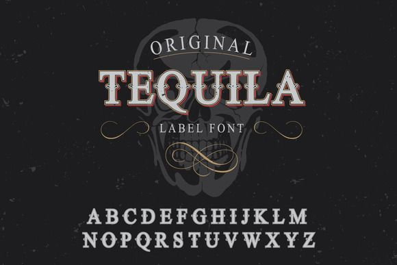 Tequila label font by Trivia on Creative Market