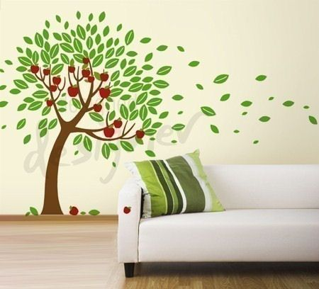 38 best tree painting images on pinterest tree murals for Apple tree mural
