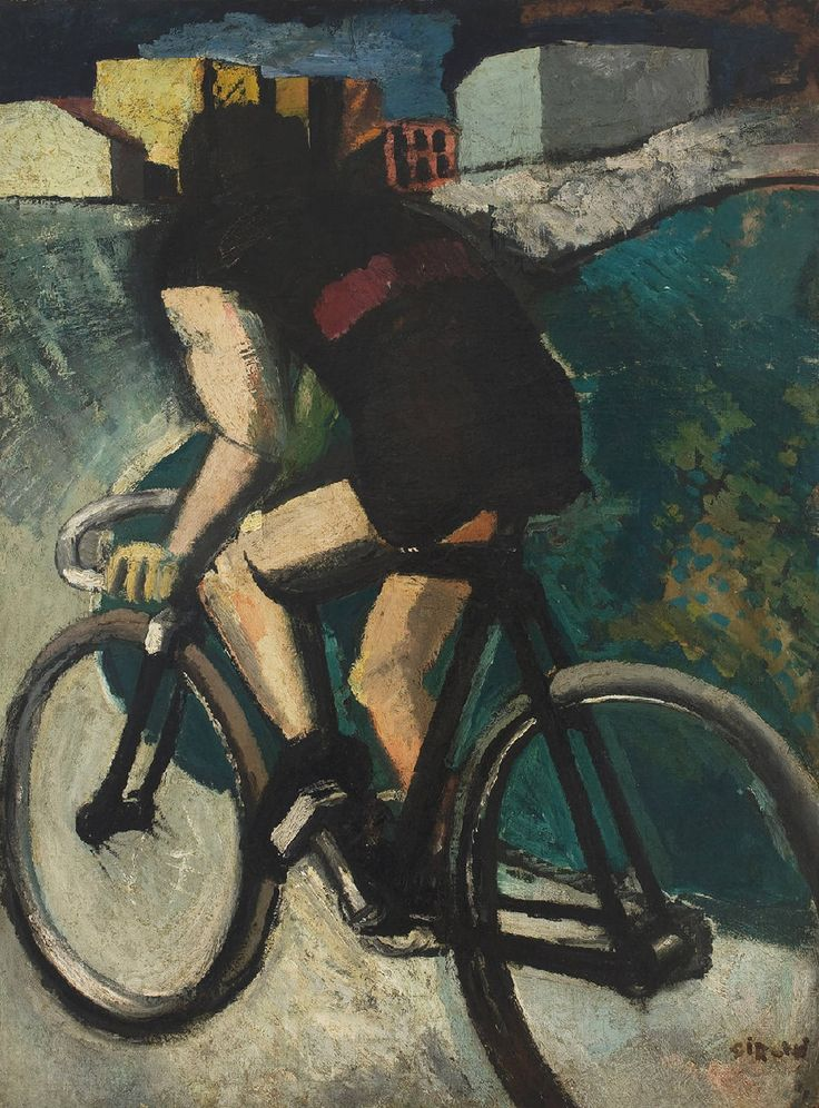 Mario Sironi (Italian, 1885-1961). The Cyclist, 1916. Oil on canvas