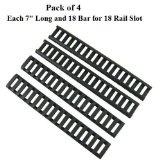 "7"" Handguard Ladder Rail Cover (18 Ladder Bar), Black (pack of 4)"