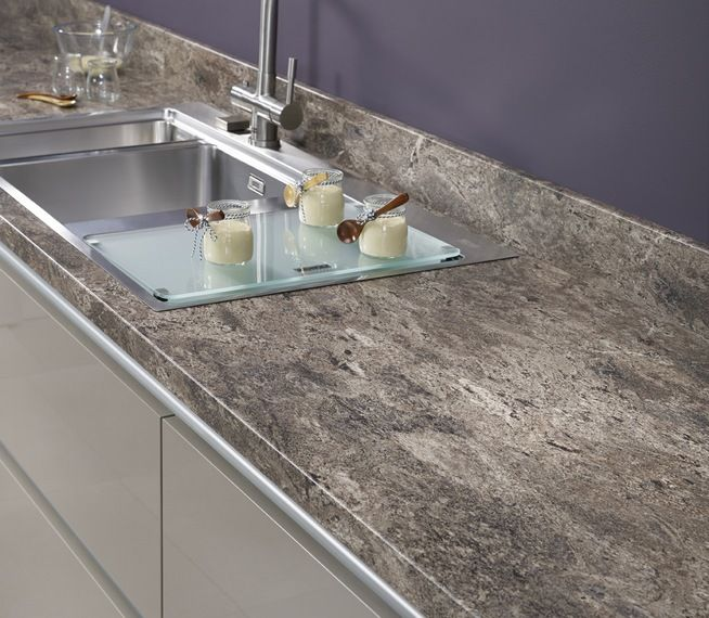 Andorra Brown worksurface and upstand