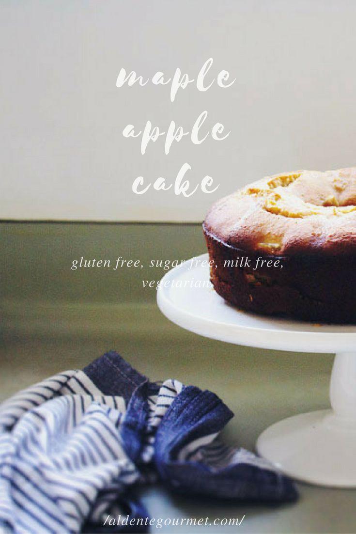 Maple Apple Cake // Easiest Refined Sugar Free   Gluten Free   Milk Free Cake //