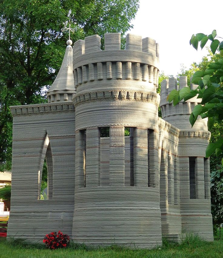 3D printed concrete castle is complete by andrey rudenko
