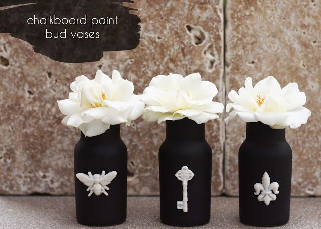 Upcycle // Cool Jar Series - simple....painted with black chalkboard paint and decorated with mod podge melts!