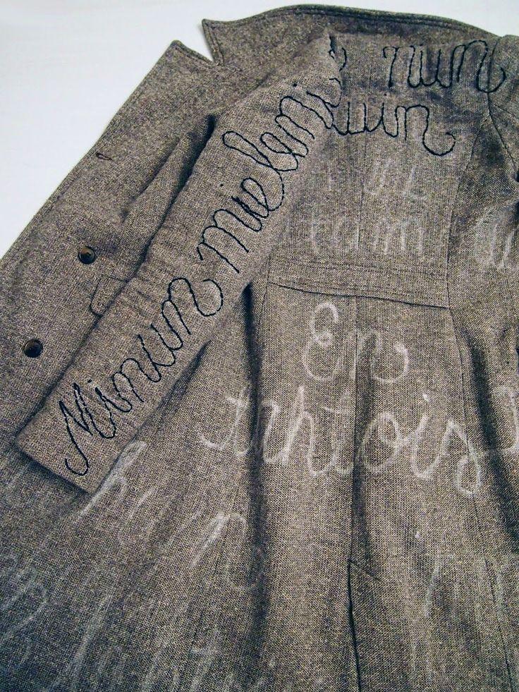 Kaunokirjoitettu takki