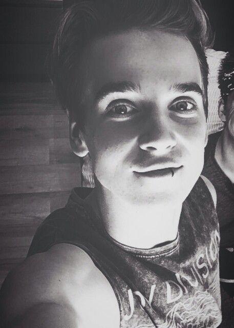 Joe sugg, black and white, luke hemmings impression, lip ring, selfie