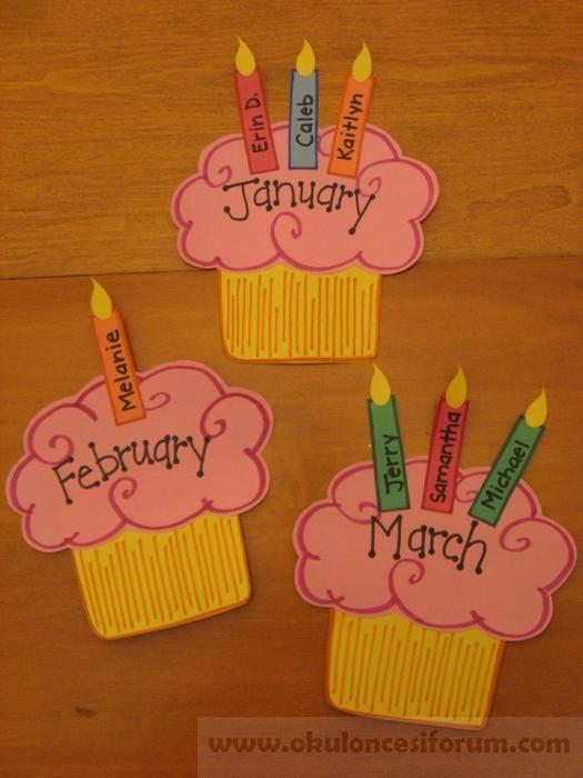 Doğum günü panosu :) - Okul Öncesi Etkinlik Kaynağınız