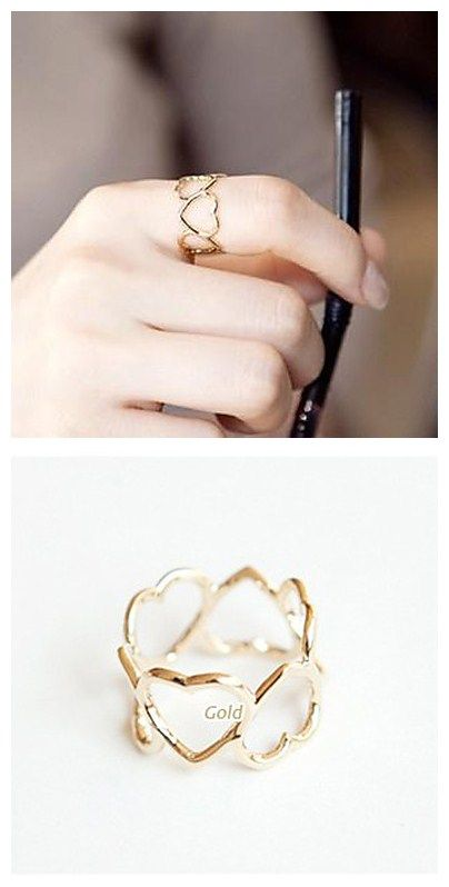 Fashionable heart shape ring! Love it. Simple but classic!