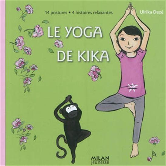 3199700095730 Le Yoga de Kika. La jeune Kika et son ami Yazou font la démonstration de 14 postures faciles à réaliser au fil de la journée. Des comptines et des histoires relaxantes les accompagnent pour se réveiller, mieux se concentrer, retrouver de l'énergie, se détendre. Les illustrations poétiques invitent aussi l'enfant à accomplir ce voyage.