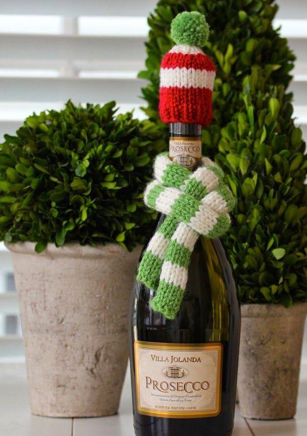 wine bottle hat & scarf knitting pattern   a cup of mascarpone