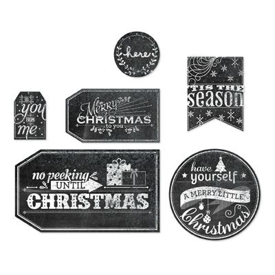 Collection of chalkboard Christmas tags.