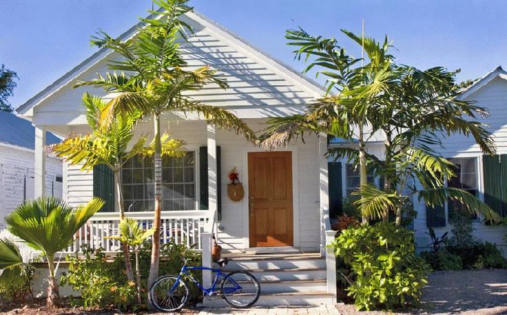 A little cottage with a front porch--like this Key West cottage--would be perfect.