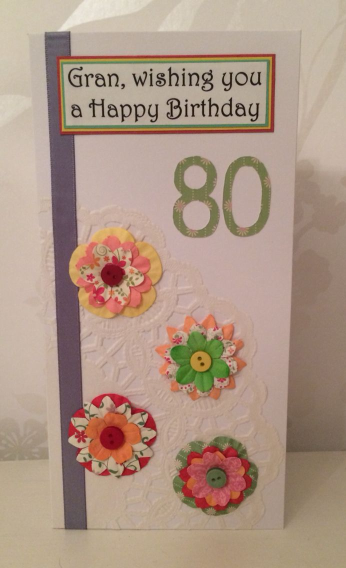 Handmade personalised 80th birthday card