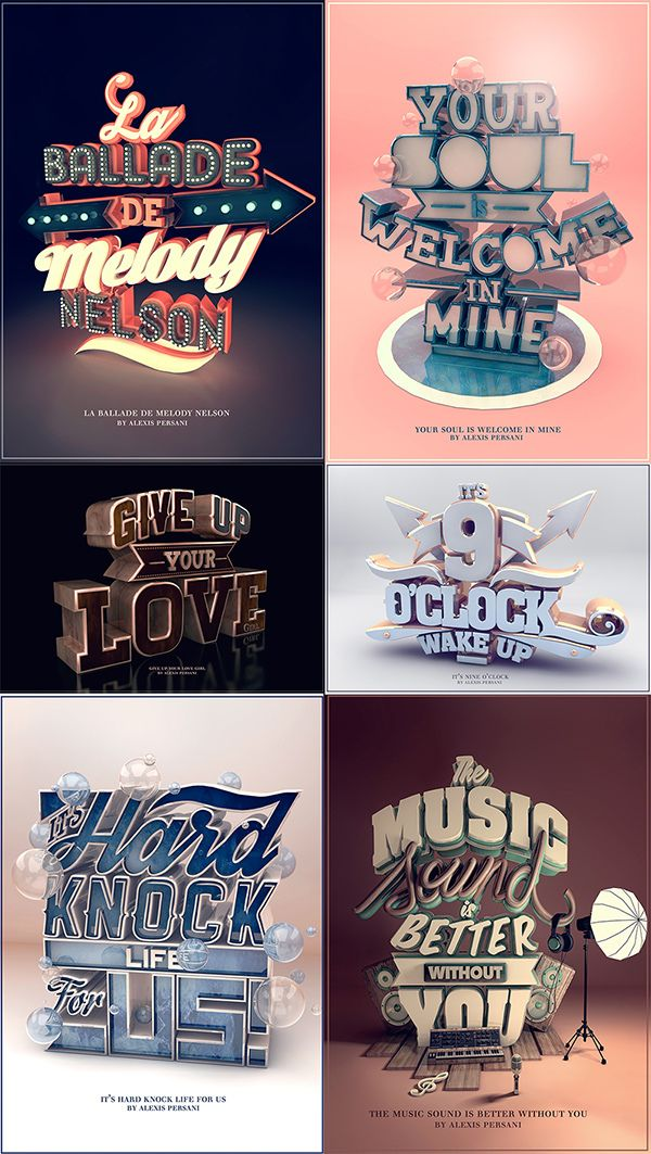 32 Absolutely Inspiring Examples of Typography » Design You Trust. Design, Culture & Society.