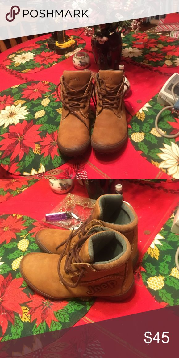 Jeep Boots Brown lace up jeep boots very good condition Jeep Shoes Lace Up Boots