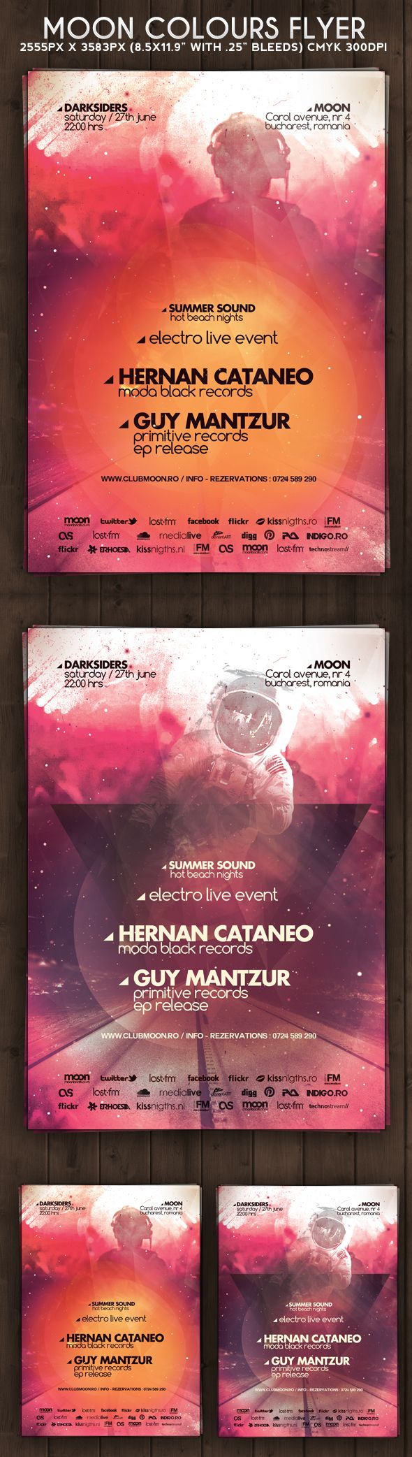 8 5x11 poster design - Moon Colours Flyer Poster By Iulian Balinisteanu Via Behance