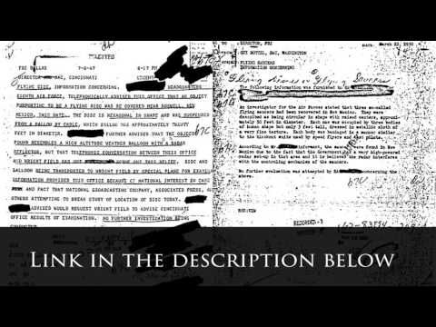 Official documents: Roswell UFO crash (1947) - New Mexico