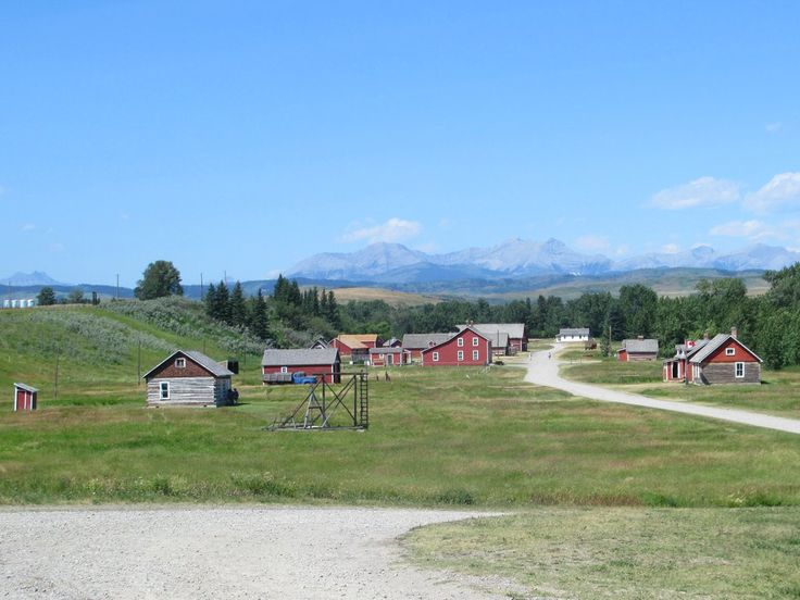 Bar U Ranch National Historic Site at Longview, Alberta, recreates late 19th century open range ranching in Western Canada. Many of the buildings are period structures moved here.