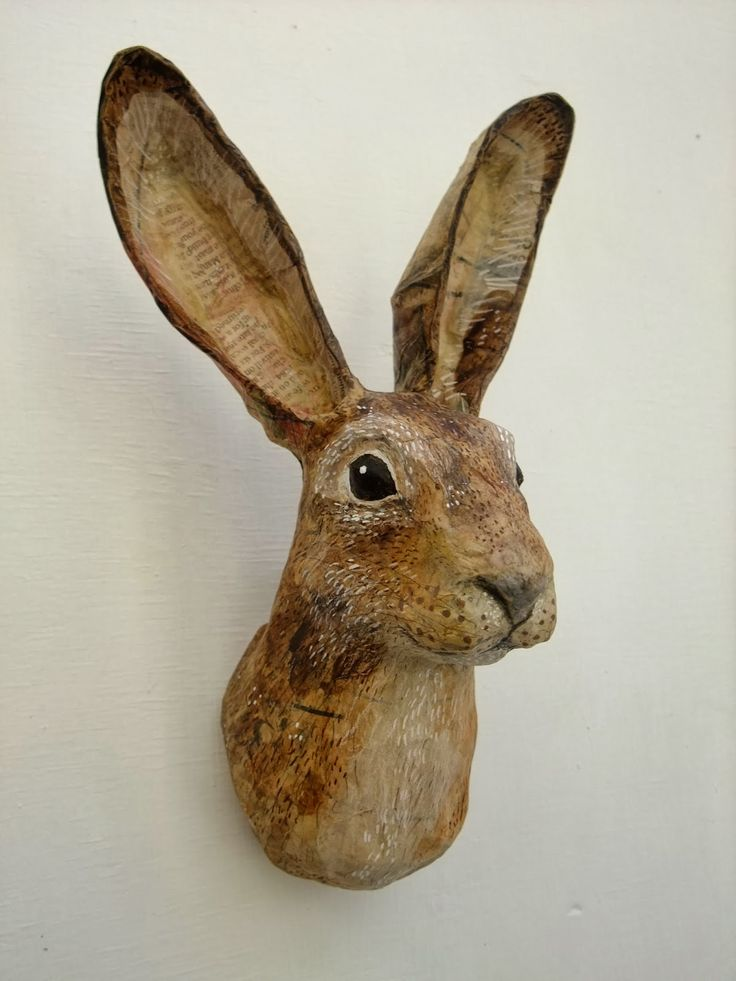 Paper mache sculpture animals images for Making paper pulp sculpture