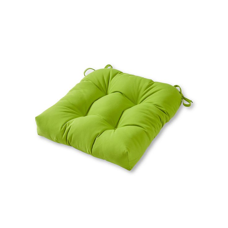 Greendale Home Fashions Square Sunbrella Outdoor Chair Pad, Green