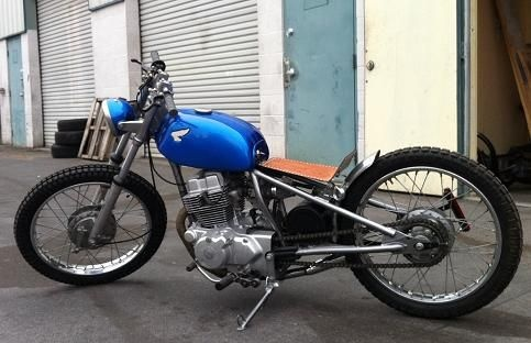 "I love the 19"" rear wheel.  I have a dream of building a hardtail bobber on a 23"" or so wire spoke wheel."