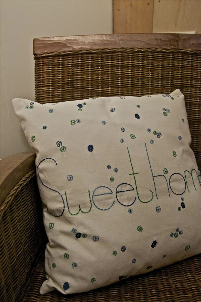 Kussen Sweethome, slaapkamer Odemarus