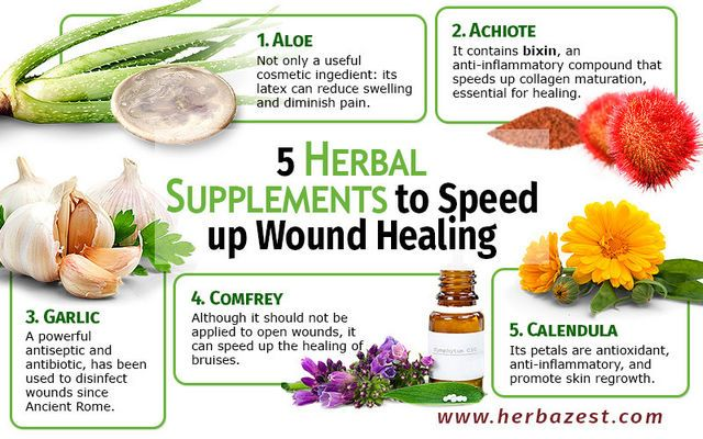 5 herbal supplements to speed up wound healing health for Ayurvedic healing cuisine