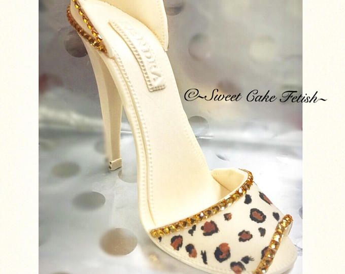 Alto tacón pastel Topper/pastillaje zapato/leopardo zapato