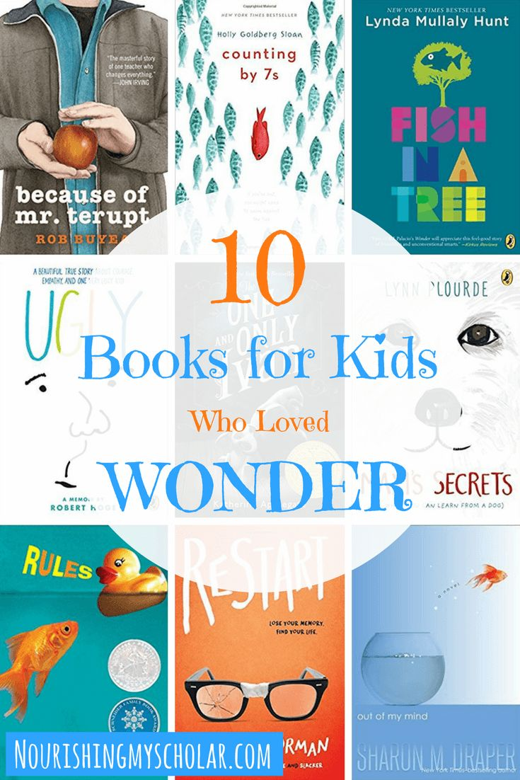 "10 Books for Kids Who Loved Wonder: There are books that can have a profound effect on us. They touch our hearts and help us grow in ways that can be life-changing. If your child has read Wonder by R.J. Palacio and has perhaps followed the ""Choose Kind"" movement, then they may be looking for more books about kindness. Here are 10 middle-grade chapter books for kids who loved Wonder that encourage compassion, empathy, kindness, and acceptance of differences. via @preciouskitty23"