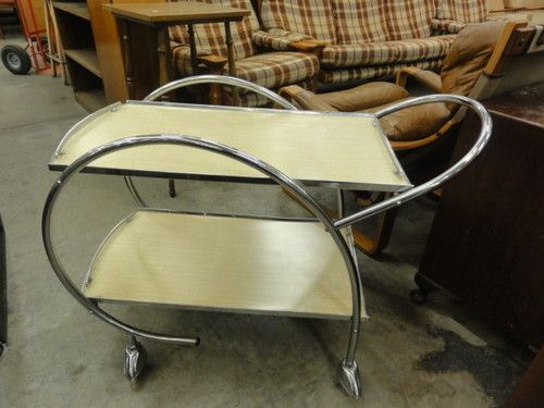 Ranleigh chrome and laminex tea / drinks trolley. was pulled apart and posted from SA!