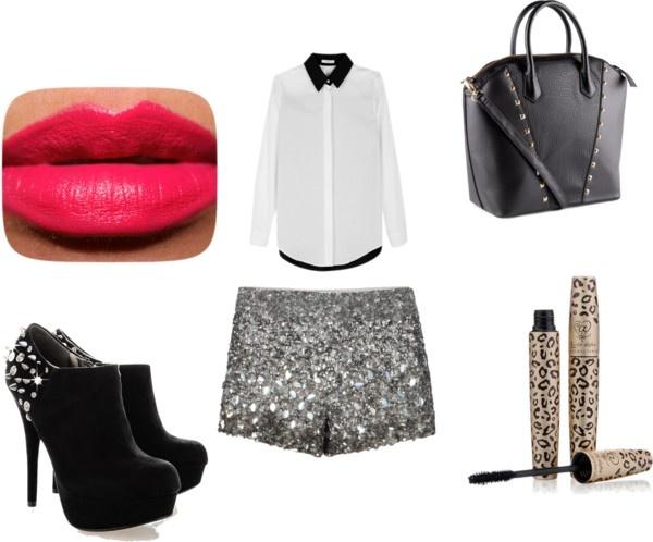 """glitter shorts"" by ilda83 on Polyvore"