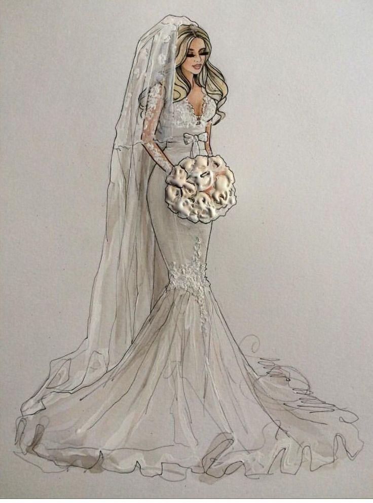 Невеста картинки для срисовки