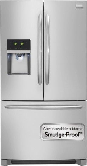 Frigidaire - Gallery 22.6 Cu. Ft. Frost-Free Counter Depth French Door Refrigerator with Thru-the-Door Ice and Water - Stainless-Steel - AlternateView18 Zoom