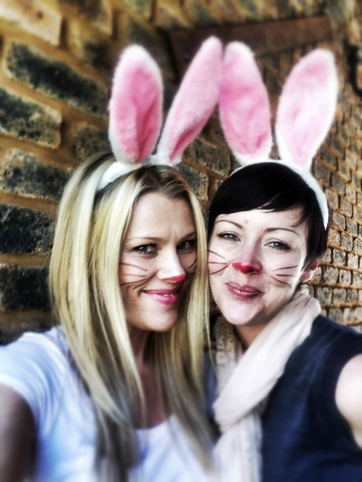 Me and my sis - the decorator bunnies!
