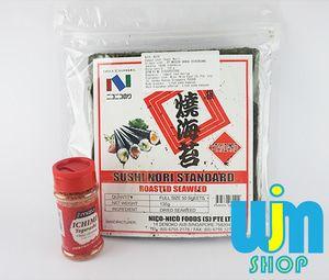 bubuk cabe + nico nori - P. Ichi Ni Beli Paket Lebih Praktis isi paket Ichi Ni: - 1 Nico Nori @50 lembar - 1 Ichimi Togarashi 40gram